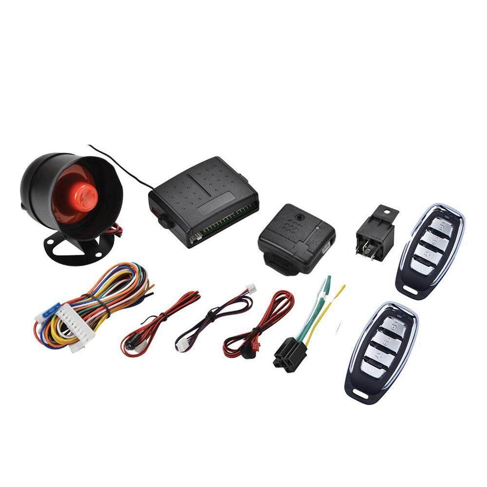 niceEshop Car Alarm Security System Car Horn Manual Reset Button Function  Burglar Alarm Protection