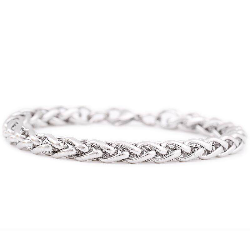 LINGHO BELT Fashion Jewelry Stainless Steel Men Bracelet Silver New Design Hand Chain High quality Titanium