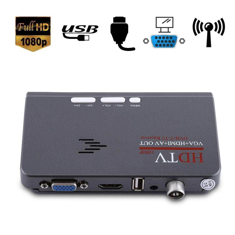 Hình ảnh Digital 1080P HD HDMI DVB-T2 TV Box Tuner Receiver Converter Remote Control With VGA Port - intl