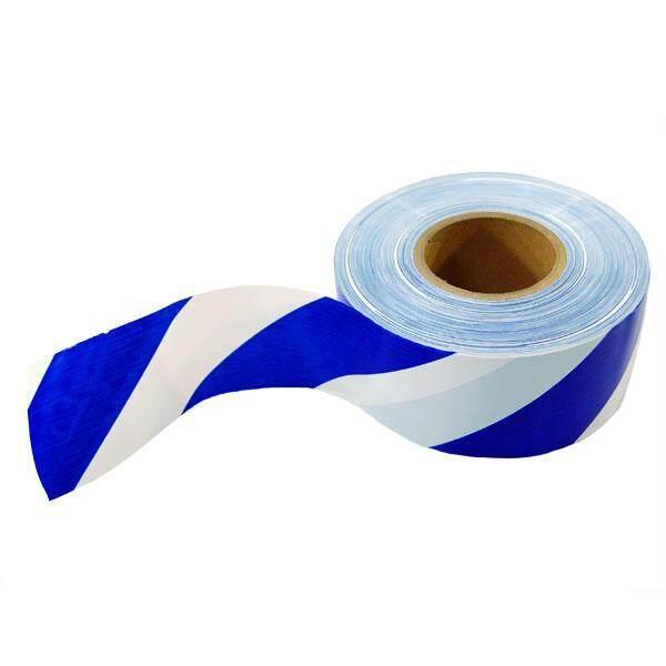 BLUE WHITE BARRICADE TAPE ( 50 MM X 100M)