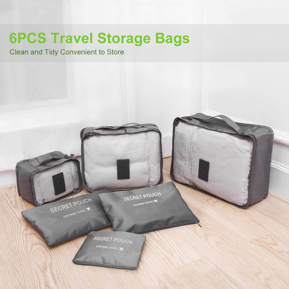VORCOOL 6 in 1 Clothes Storage Bags Packing Cube Travel Luggage Organizer Waterproof Storage bag Travel