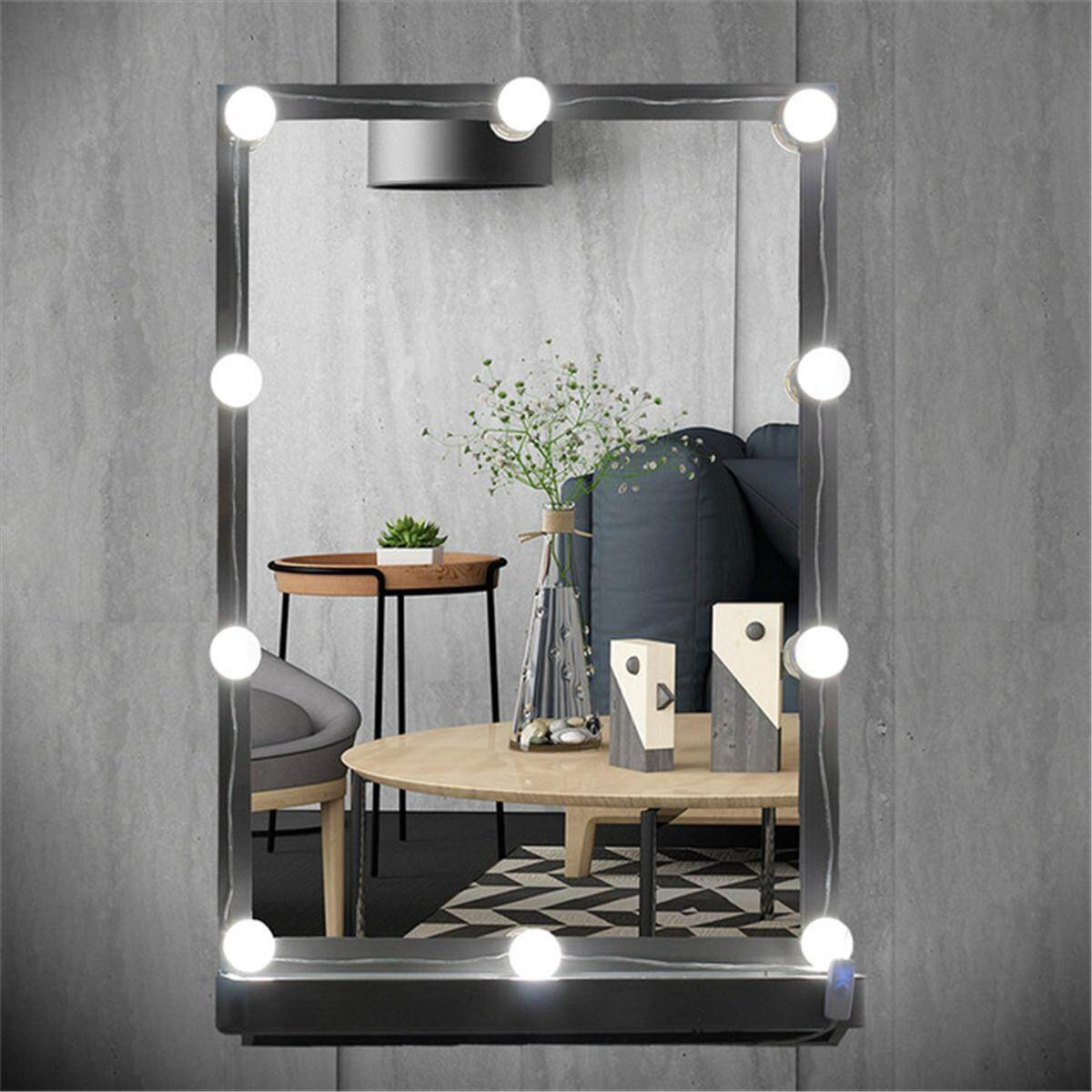 Buy Sell Cheapest Tingreat Hollywood Makeup Best Quality Product Kaca Rias Cermin Led 8 Lampu Mirror 10 W Vanity Bohlam Kit Untuk Berpakaian Gaya Au Plug
