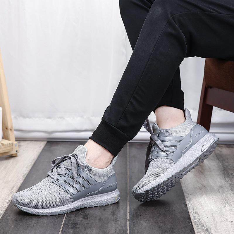 a3f57eb1e1b7 Yotta Men's Simple Lace-up Flying Woven Shoes Korean Casual Shoes  Breathable Couple Shoes Dancing Shoes