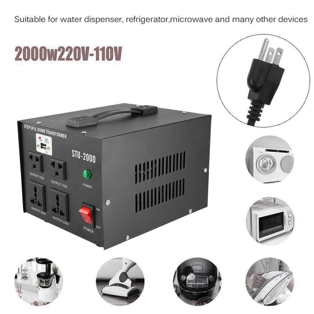 Osman 2000w 110v/220v Electrical Power Voltage Converter With Usb Transformer Black By Osmanthus.