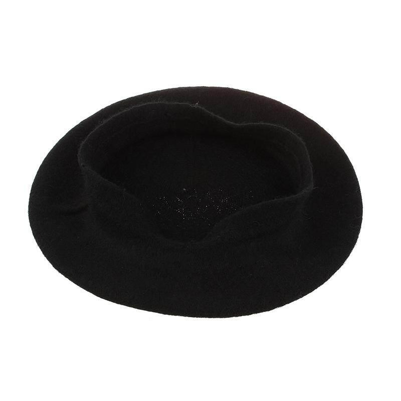 ... Wol Wanita Campuran Topi Baret Prancis Hangat Topi Musim Dinin Gadis Baret  Topi-Intl - cfac7d851c