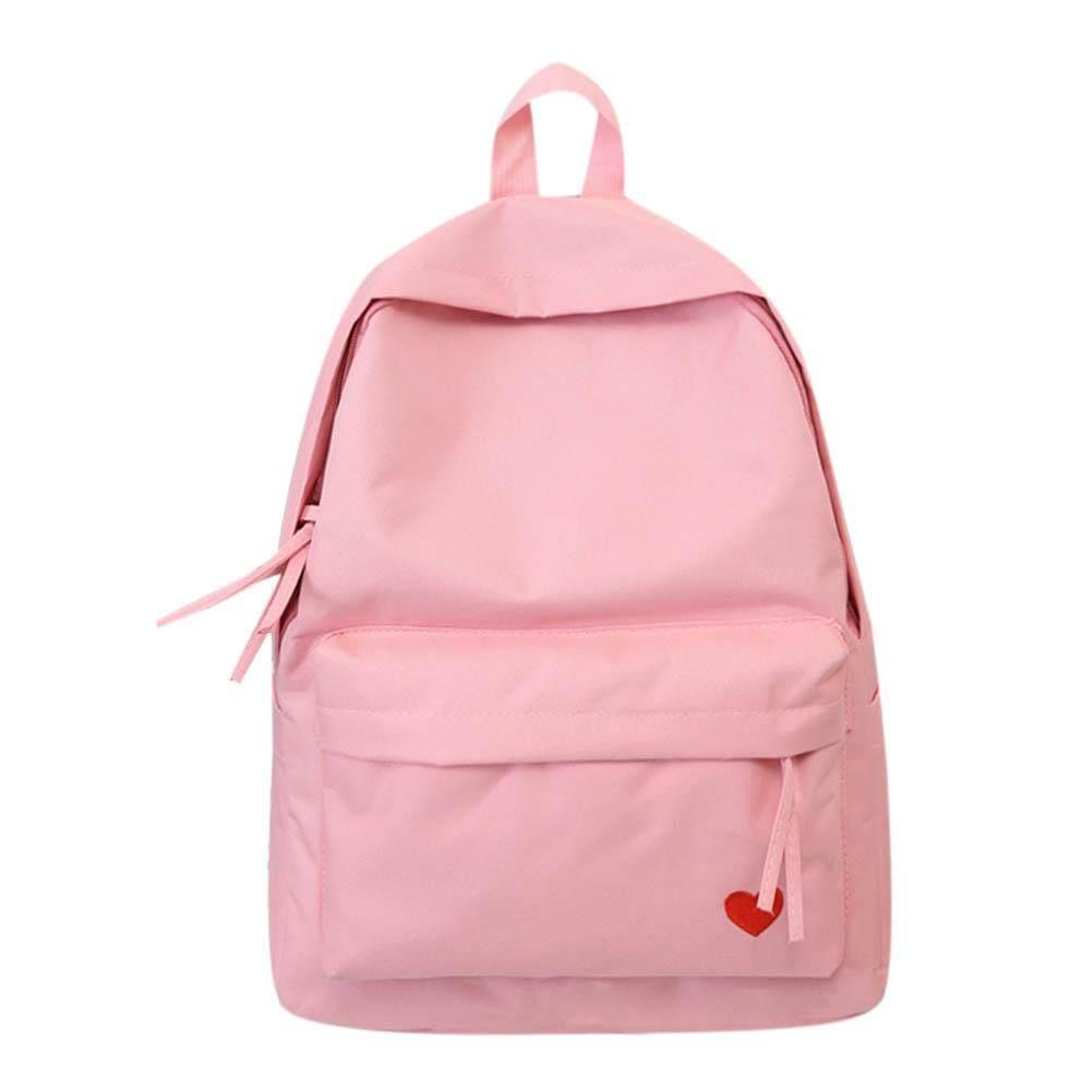 MOJOYCE น่ารักหัวใจกระเป๋าเป้สะพายหลังวัยรุ่นสาวเดินทางกระเป๋าสะพายไหล่กระเป๋าหนังโรงเรียน โปรโมชั่น