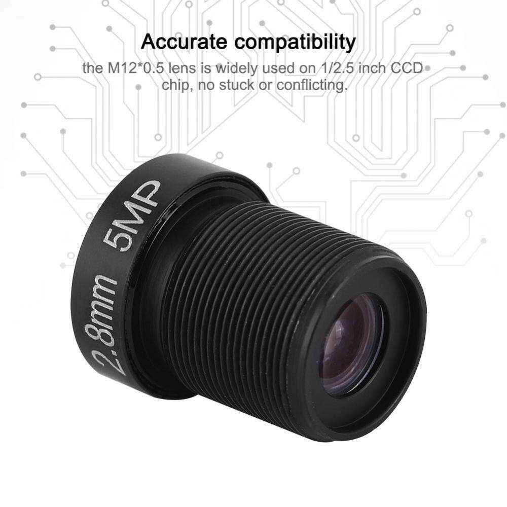 2.8mm 5MP Single Board Machine Wide Angle HD 1080P Replacement Network Camera Lens