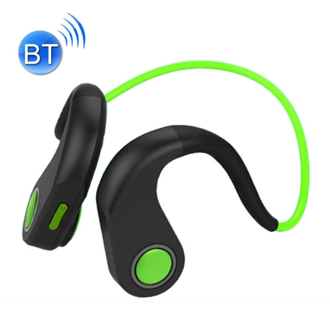 BT-DK Bone Conduction Bluetooth V4.1+EDR Sports Over the Ear Headphone Headset with Mic, Support NFC, For iPhone, Samsung, Huawei, Xiaomi, HTC and Other Smart Phones or Other Bluetooth Audio Devices (Green)