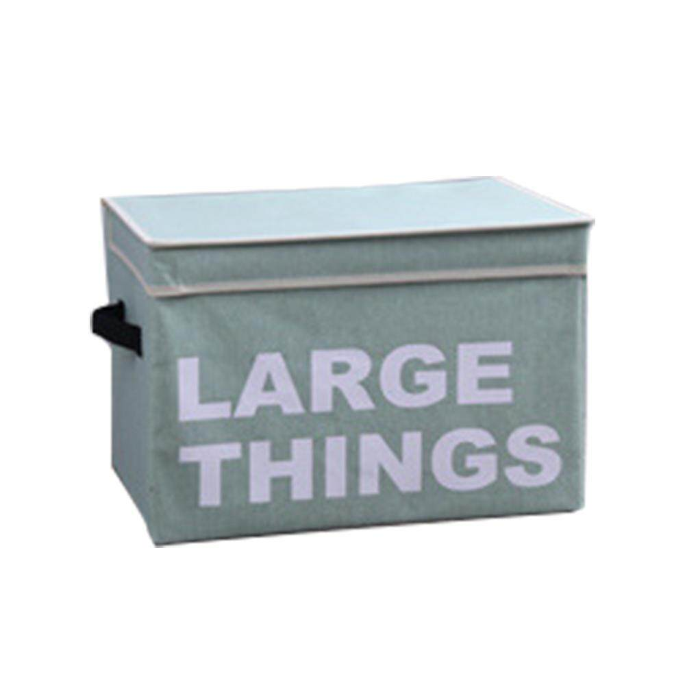 GoodGreat Storage Bins,Foldable Storage Box With Lids And Handles Storage Basket Green - intl