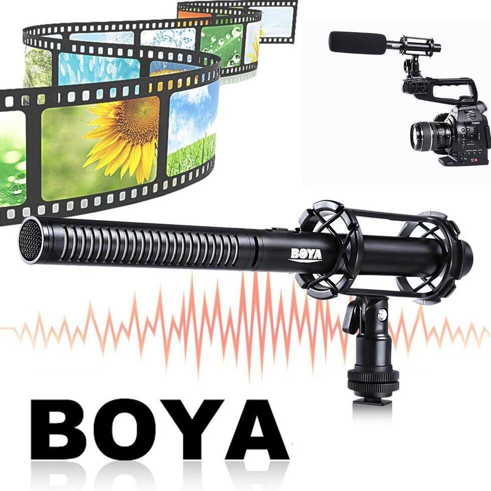 Review Boya Pvm1000 Condenser Shotgun Microphone 3 Pin Xlr For Mic Haymer Gun 41 Professional Original Goft By Interview Reporting Shotgn Black