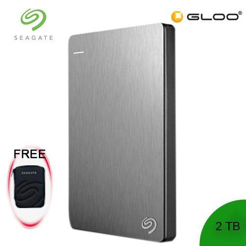 Seagate Backup Plus Portable Drive 2TB - Silver STDR2000301 FREE Hard Pouch Casing [Purchase on 3rd-16th Sept 2019  and Get complimentary RM10 Aeon voucher + RM 30 Starbucks Card *while stocks last]