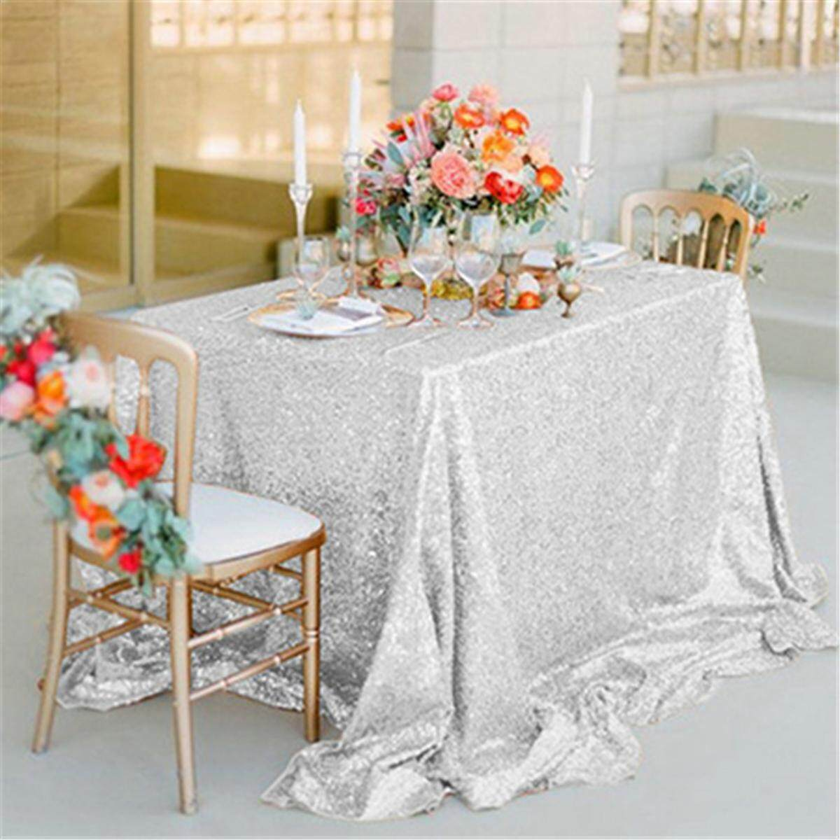New Sparkly Sequin Tablecloth 130cm Square For Wedding/ Dessert Table Decor By Glimmer.