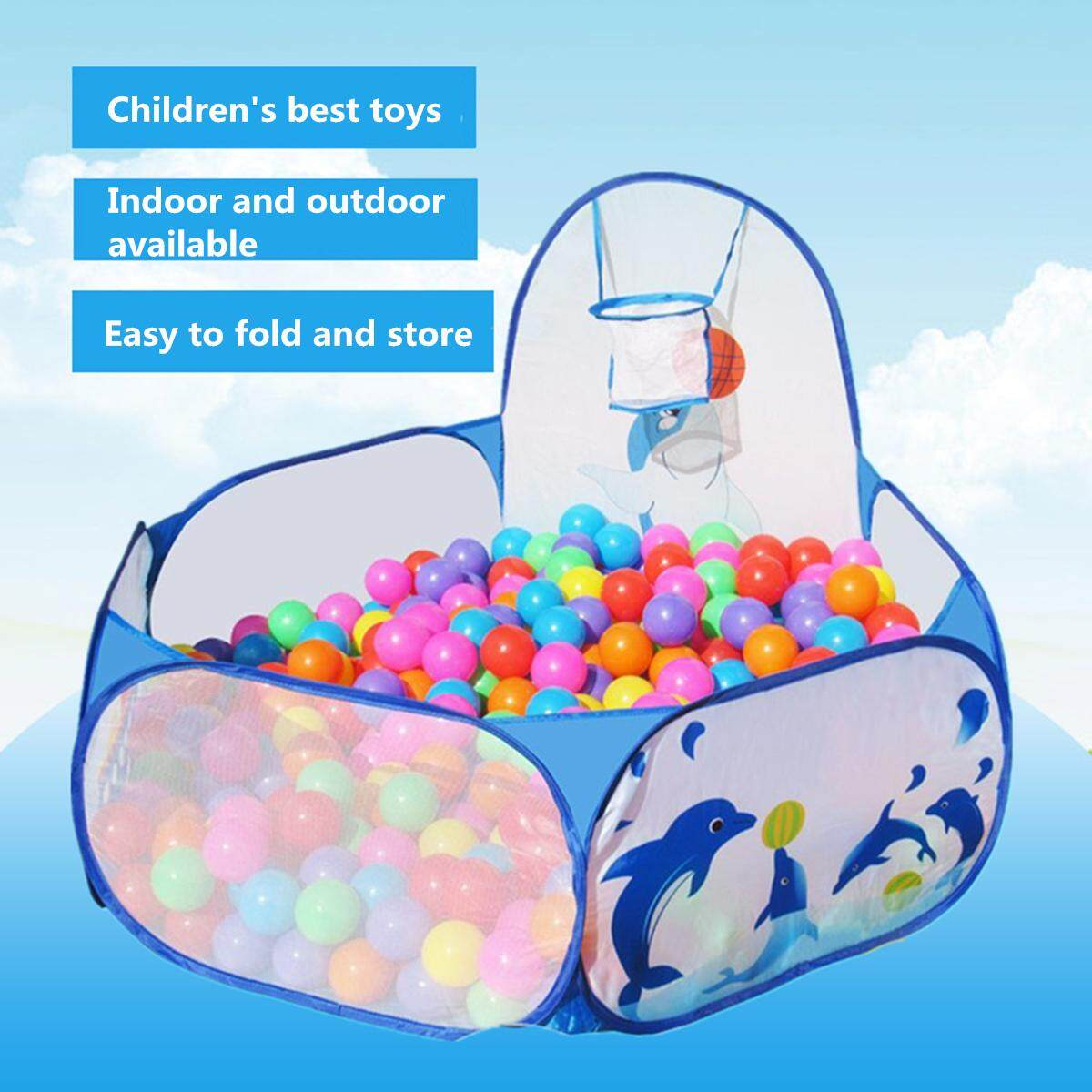 Hình ảnh Portable Kids Child Ball Pit Pool Play Tent for Baby Indoor Outdoor Game Toy New - intl
