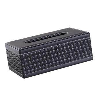 ขายช็อก BolehDeals Tissue Box Dispenser Case Napkin Holder Home Office Car Accessory Black Knit ซื้อเลย - มีเพียง ฿239.00