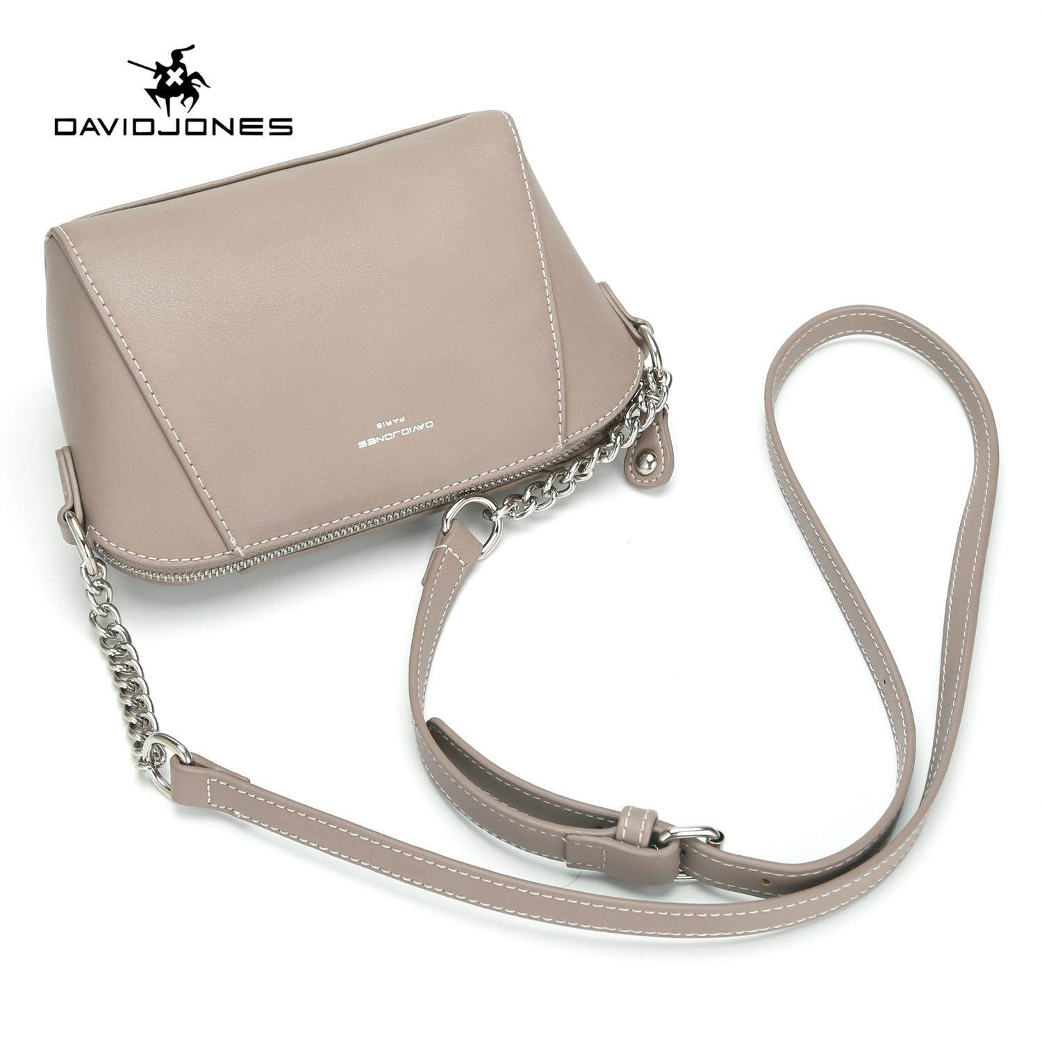 89dfc65c76d DAVIDJONES women handbag pu leather female crossbody bag small spring chain  lady shoulder bag girl summer brand messenger bag free shipping