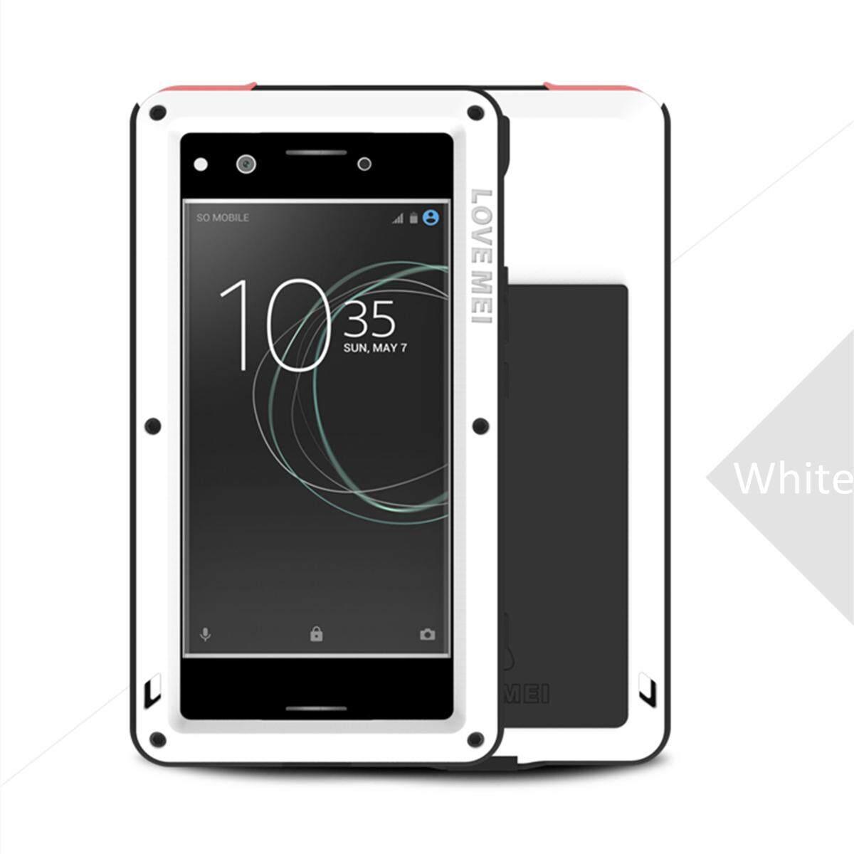 CINTA MEI Anti-Air Anti Guncangan Aluminium Logam Telepon Case untuk Sony Xperia XZ Premium Putih-Internasional