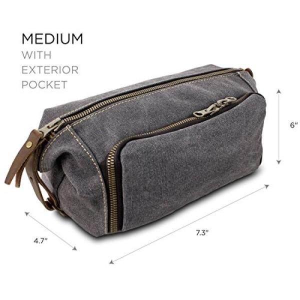DOPP Kit Mens Toiletry Travel Bag YKK Zipper Canvas   Leather - intl 25eb1bafd1