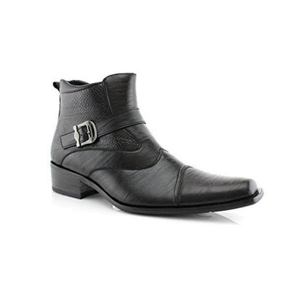 Delli Aldo Pria Hitam Gesper Tali Pergelangan Kaki Tinggi Gaun Sepatu Bot 10-Internasional