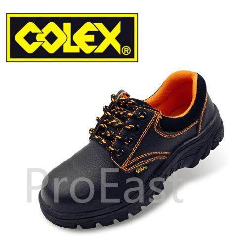 Colex Zz200 Uk 6 Steel Toe Cap Mid Sole Low Cut Safety Shoes / Kasut Inustrial 6 (black) By Proeast.