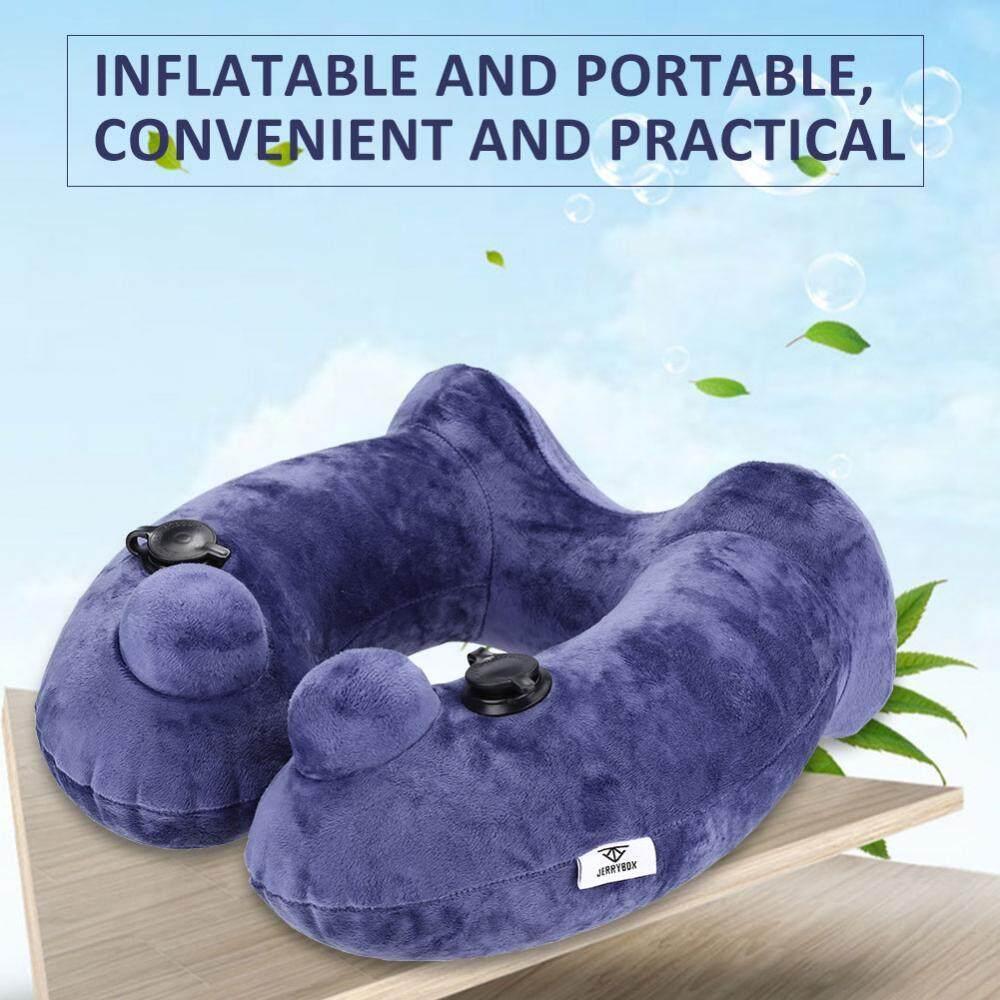 Otomatis Inflatable U Berbentuk Bantal Portable Tulang A Pesawat Bantal Leher-Intl
