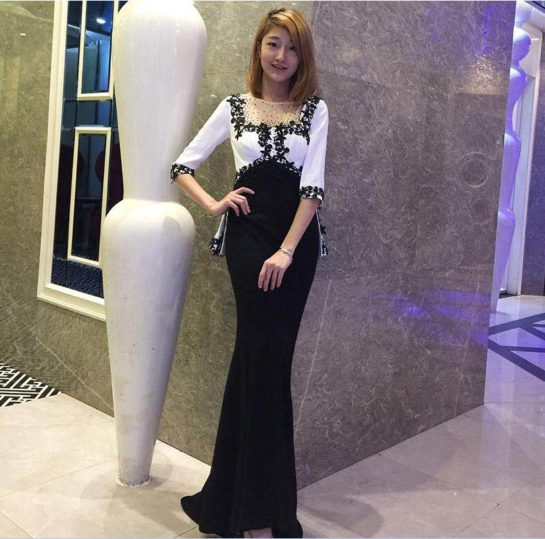 Late Formal dress for women 2018 New Style Banquet Host Nobility Elegant  Fishtail Slimming Debutante Party efbf9b2ebb39