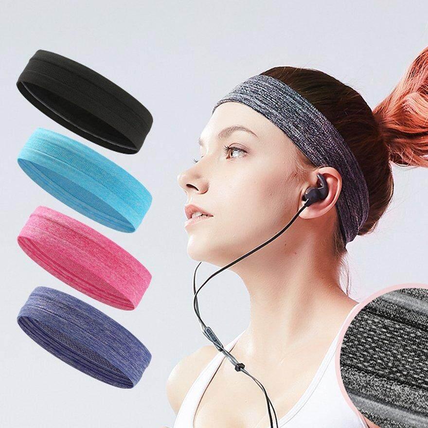 Anext Yoga Olahraga Wanita Karet Rambut Ikat Kepala Trendi Warna Solid Bando Elastis By Andnext.