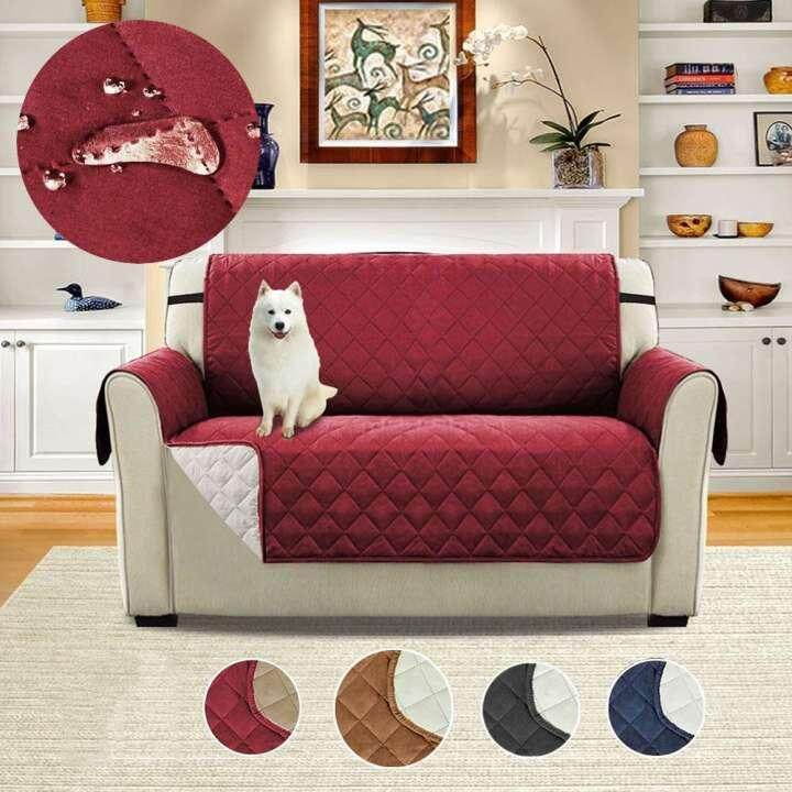 Sentexin Two Person Sofa Slipcovers, Professional Non Slip Quilted Pet Sofa Protector Cover, Seat Width 45x75Reversible Wear Resistant and Waterproof Furniture Protector