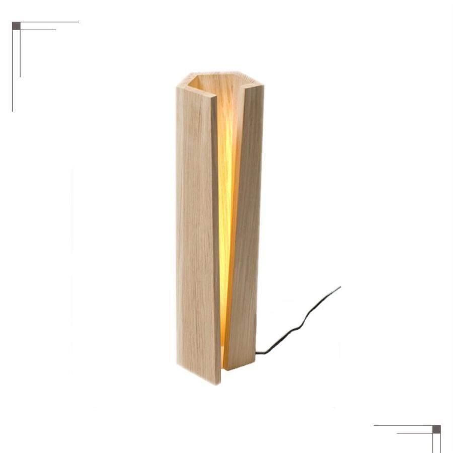 Simple Solid Wood Desk Lamp Bedroom Atmosphere Lamp North European Style Decoration Creative Atmosphere Living Room Reading Lamp - intl