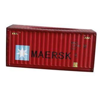 การตรวจสอบของ BolehDeals Metal Tissue Box Cover Home Car Napkin Toilet Paper Holder Red Pentagrams discount