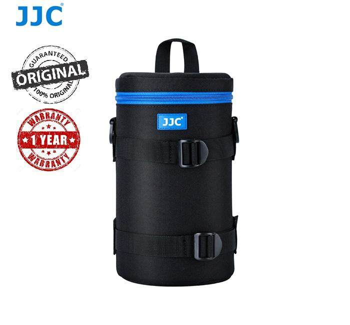 JJC DLP-6II Water Resistant Large Lens Pouch with Strap fits up to 113 x 240mm