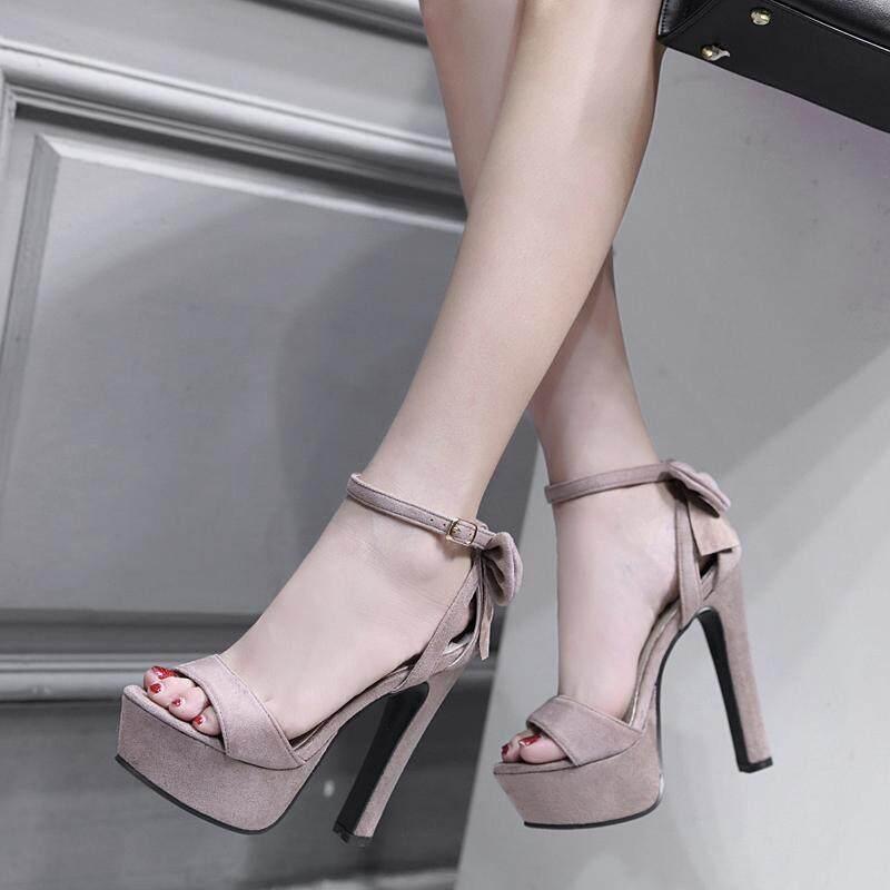Women High Heel Sandals Open-Toe Summer Women shoes Thick Heels Sanda