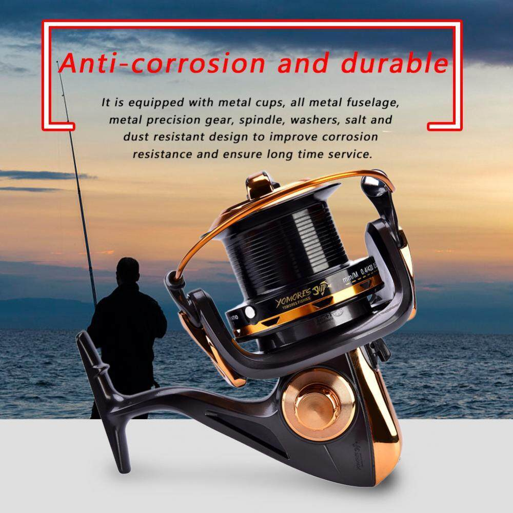 12+1BB High Speed Metallic Casting Spinning Sea Fishing Reel Wheel Tackle Accessories (10000) - intl