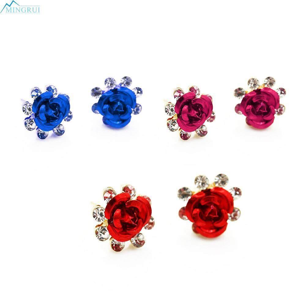 Buy Sell Cheapest Dewasa Flower Body Best Quality Product Deals Selimut Bulu 180x200 White 3colors Women Crystal Rhinestone Rose Earirngs Ear Stud Earstuds Us