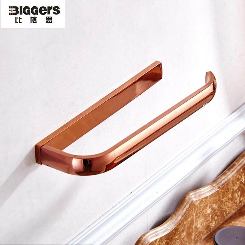 Biggers sanitary Rose gold Modern design copper bathroom hardware towel ring towel holder towel rack Philippines