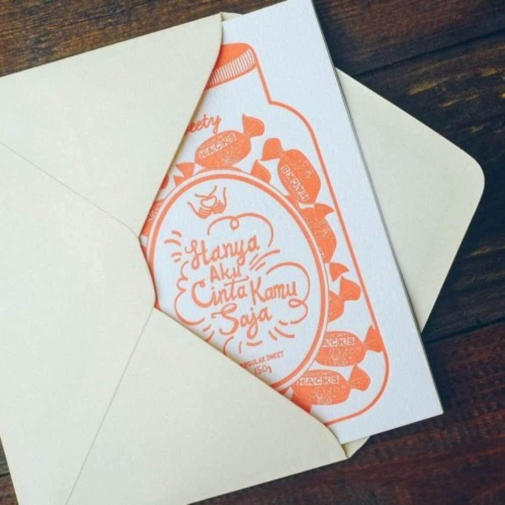 Letterpress Card - Hacks