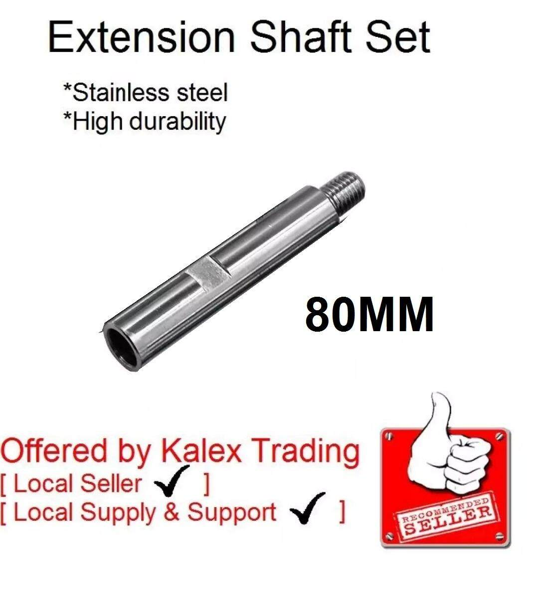 Extension Shaft Medium 80MM long for RO Rotary Polisher M14 thread pattern use