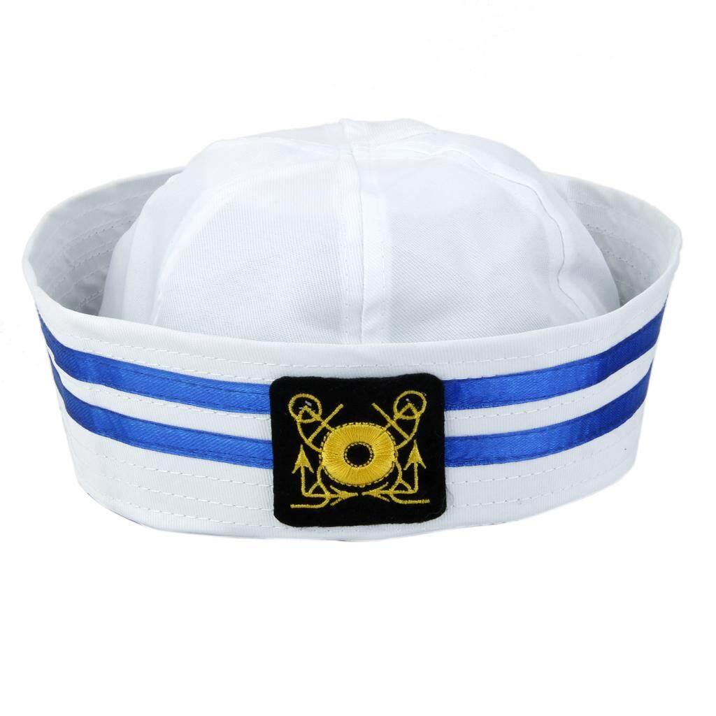 9b9bf057f2dcb MagiDeal Yacht Boat Captain Sailor Hat Skipper Navy Marine Cap Costume  Party Dress  1