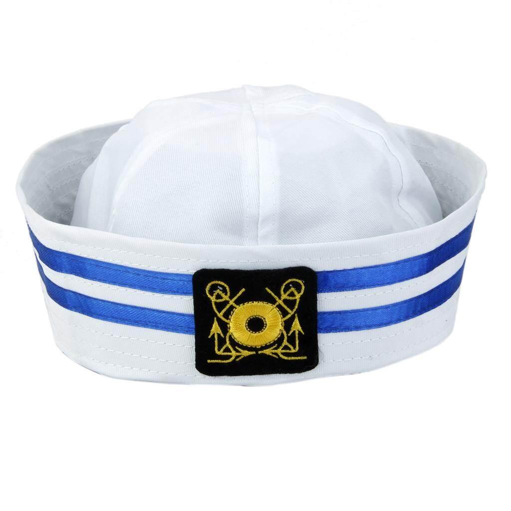 10eed34e811cd MagiDeal Unisex Captain Sailor Hat Skipper Navy Marine Cap Kids Military Hat  Yacht Cap