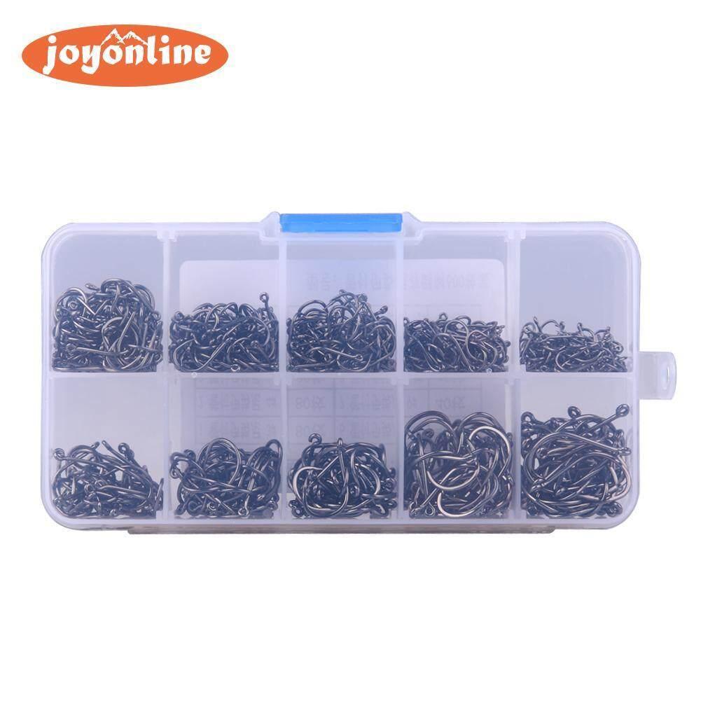 Kail Pancing Kait Jig Dengan Lubang Memancing Kotak Alat Pancing Baja Karbon Fishho (perak)-200 Pcs-Intl By Joyonline.