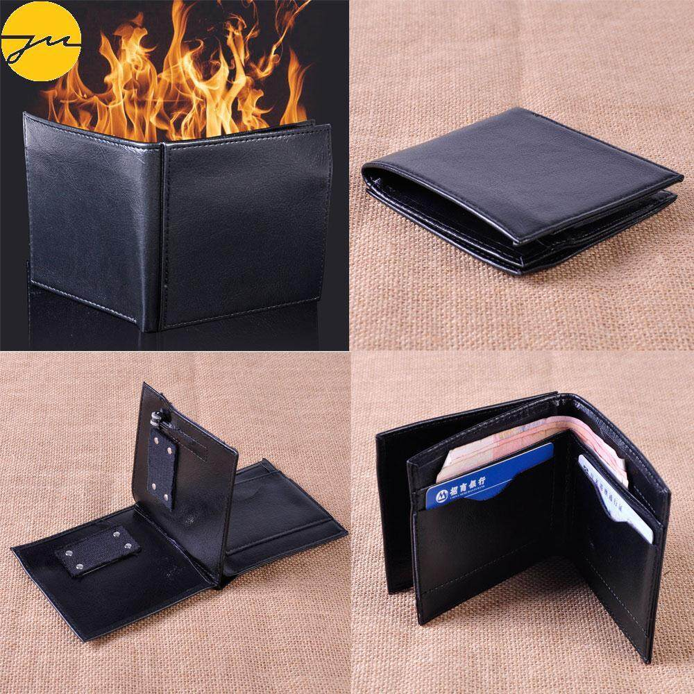 JMS Magic Wallet Toy Flame Fire Wallet Creative Man Made Leather Jokes