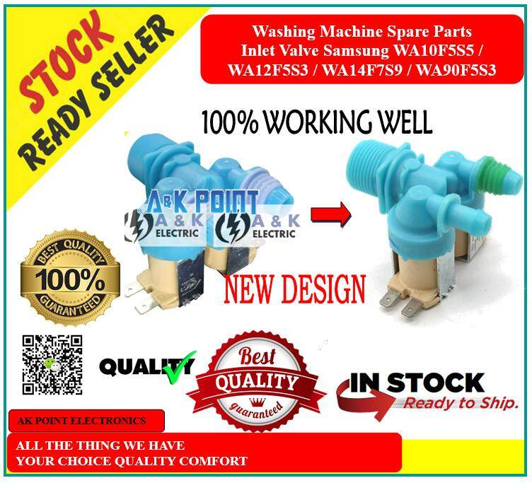 Washing Machine Spare Parts Inlet Valve Samsung WA10F5S5 / WA12F5S3 /WA90F5S3 DC62-00311C