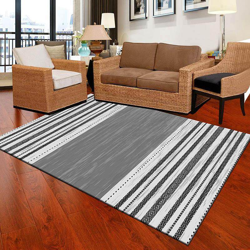 Modern Printed Living Room Mat Anti-slip Washable Children Carpet Hydrophil Rugs for Bedroom 60X90cm