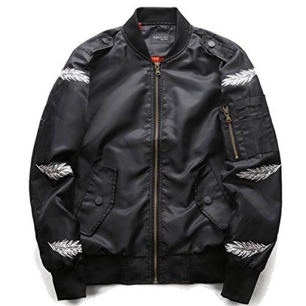 Mens Air Force Big and Tall MA-1 Flight Jacket Bomber with Biker Detail Sportswear