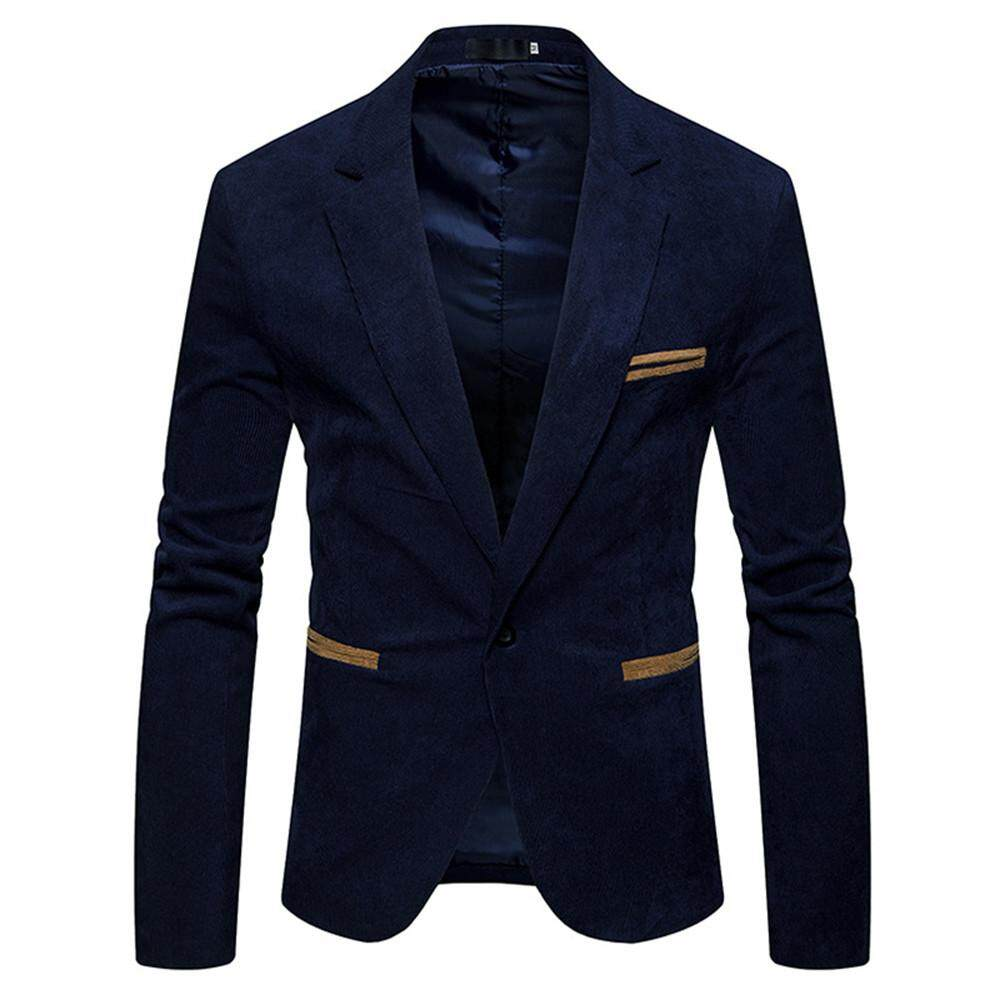 Joomia Mens Autumn Winter Casual Corduroy Slim Long Sleeve Coat Suit Jacket Blazer Top By Joomia.
