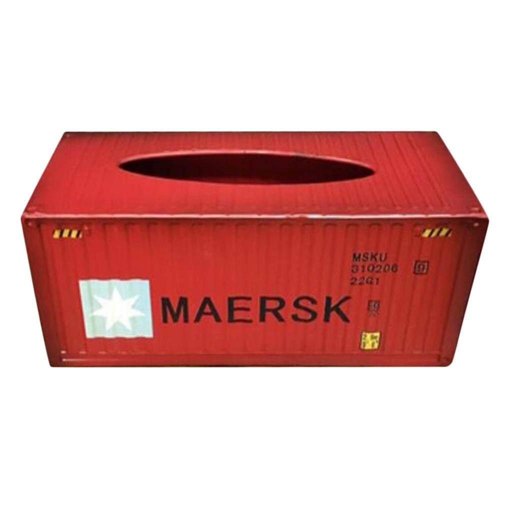 Dolity Metal Tissue Box Cover Home Car Napkin Toilet Paper Holder Red Pentagrams