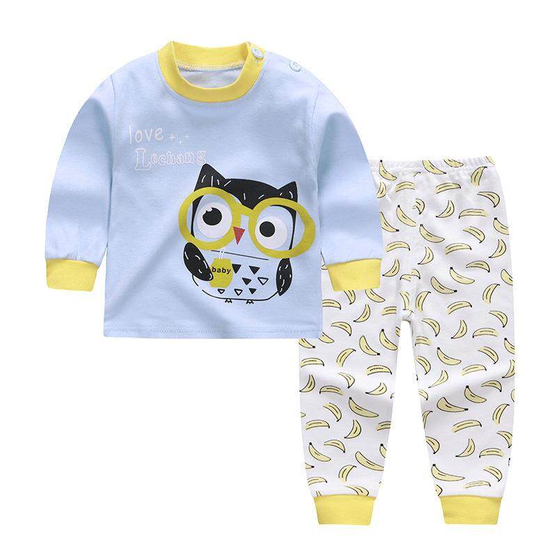 ❤️cutiebaby Girl Boy Autumn Kid Infant Baby Soft Pyjama Cotton Long Sleeve Nightwear Outfit 2pcs By Cutiebaby.