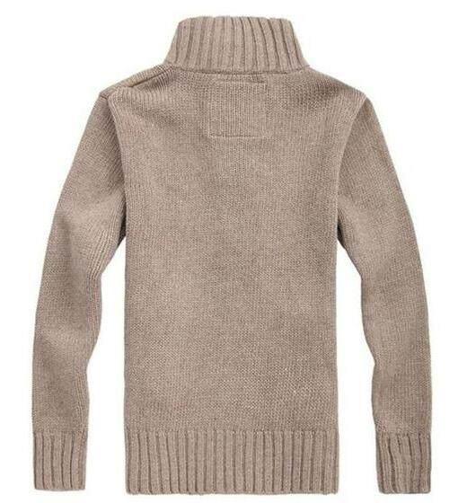 Detail Gambar Pria Kardigan Rajut Sweter Sweater Tebal Mantel Ramping Korea Line Jaket Kasual-Khaki L-Intl Terbaru