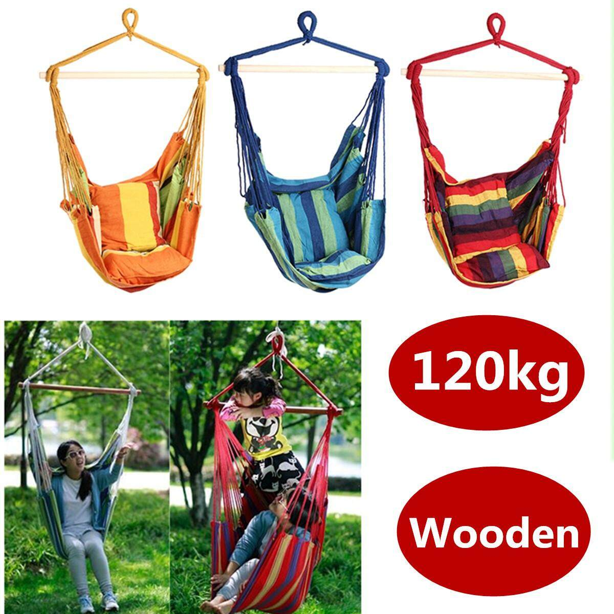 Deluxe Hammock Chair Hammocks Hanging Chair Swing Indoor Outdoor Camping 130*100*80cm By Moonbeam.