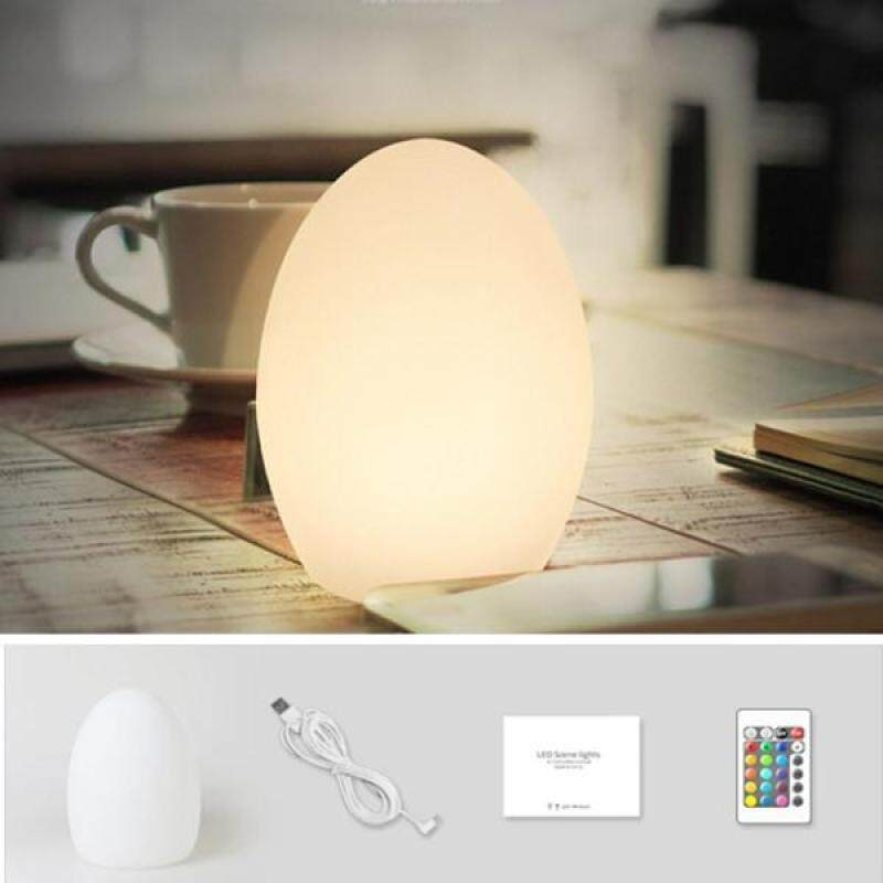 Bảng giá Dễ thương Hình Trứng Đèn LED, Chống Thấm Nước Và Vỡ Chống USB Sạc 16 màu Bầu Không Khí Đèn Ngủ