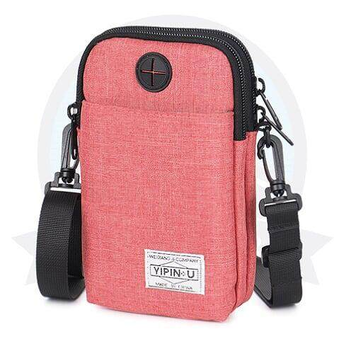 [ BEST SELLER] YIPINU Anti-Theft Multi-purpose Pouch-Rose Red